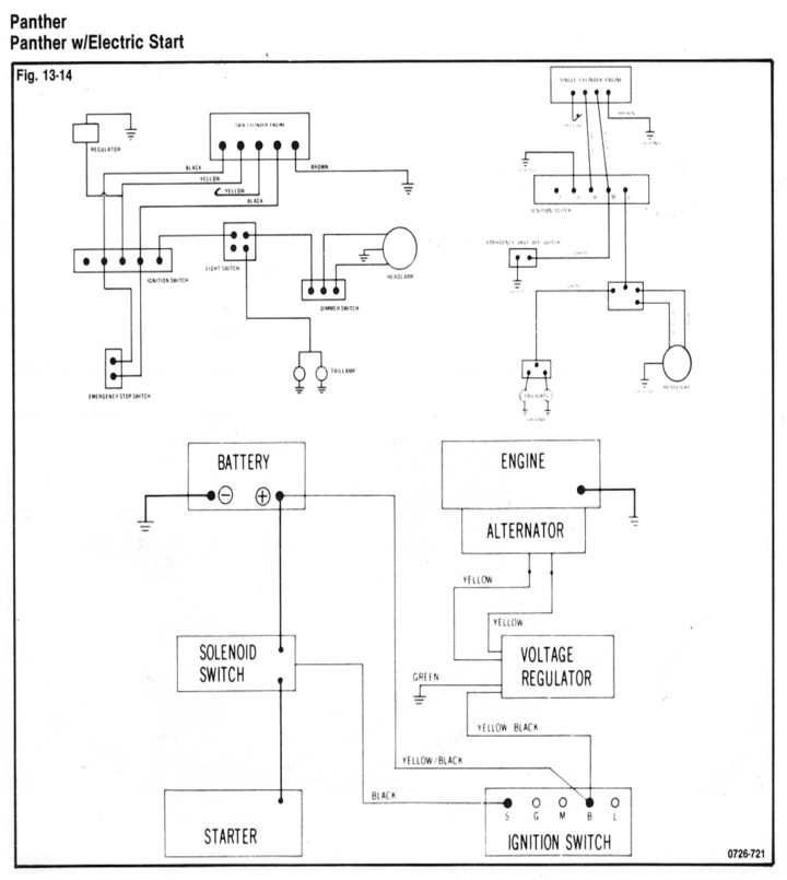 1972Panther arctic cat XJ6 Wiring-Diagram at fashall.co