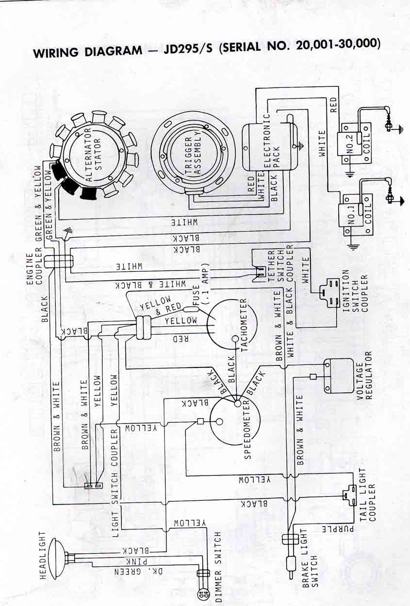 John Deere 400 Riding Lawn Mower Wiring Diagram 1972 1975 All Models