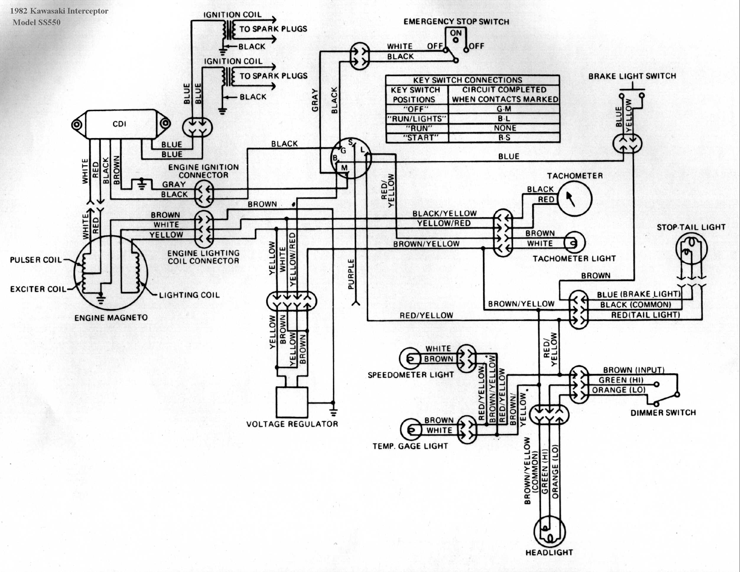 Kawasaki 1980 Kawasaki 750 LTD Wiring-Diagram 1980 Kawasaki Ltd 440 Wiring  Diagram