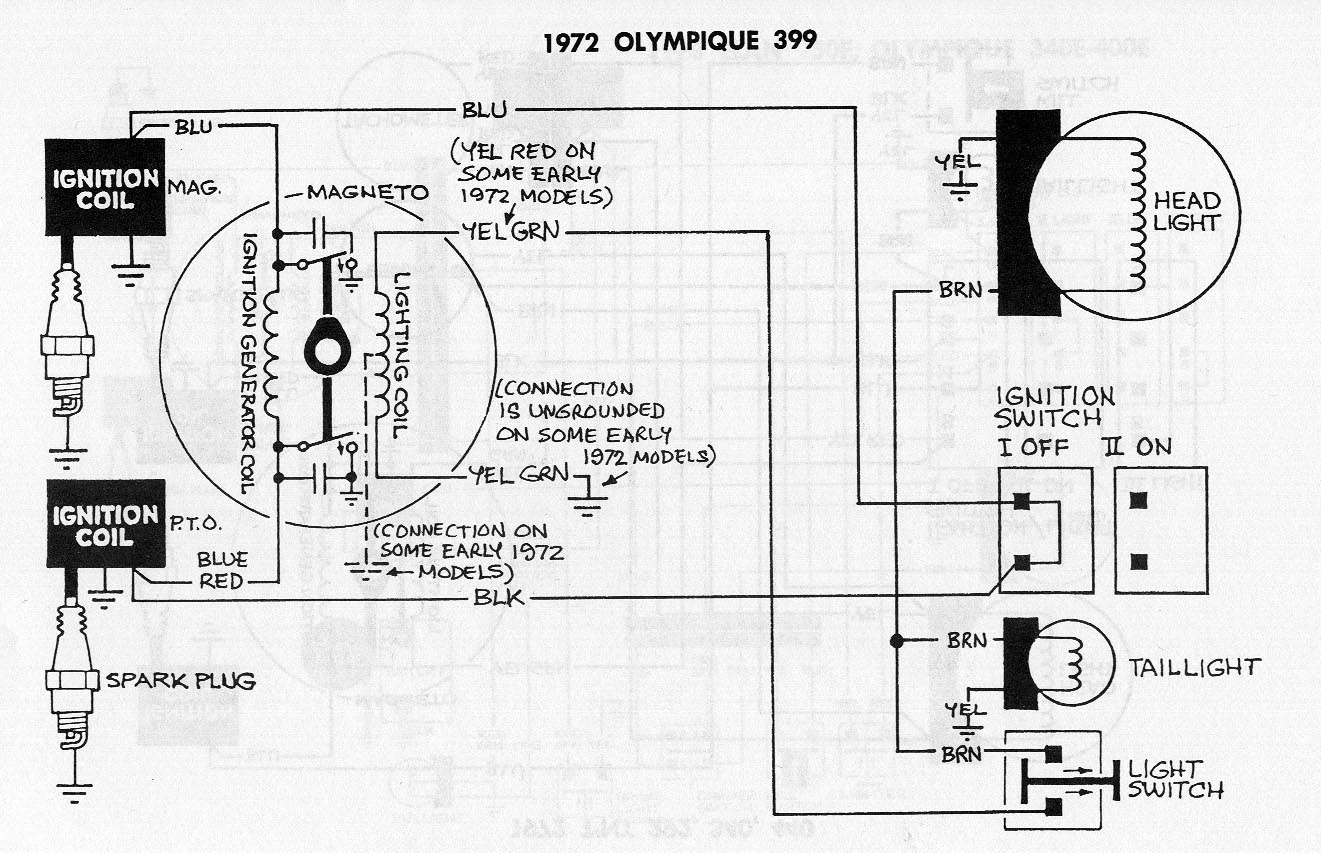 Ski Doo 1975 Ford Elite Wiring Diagram 1969 Twin Manual Start 1970 1979 Tnt Swiped From The Skidoo Page