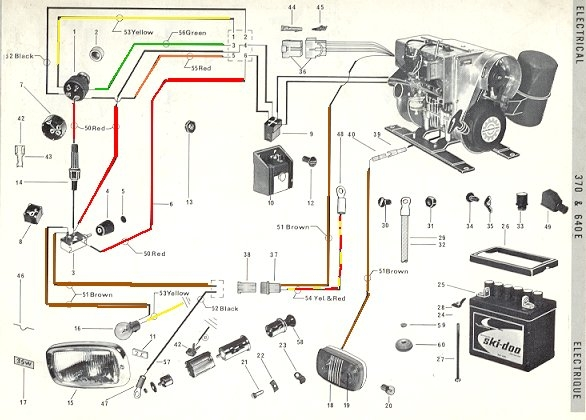 69 Twin 370 640 Electric ski doo Ski-Doo Electrical Diagram at virtualis.co