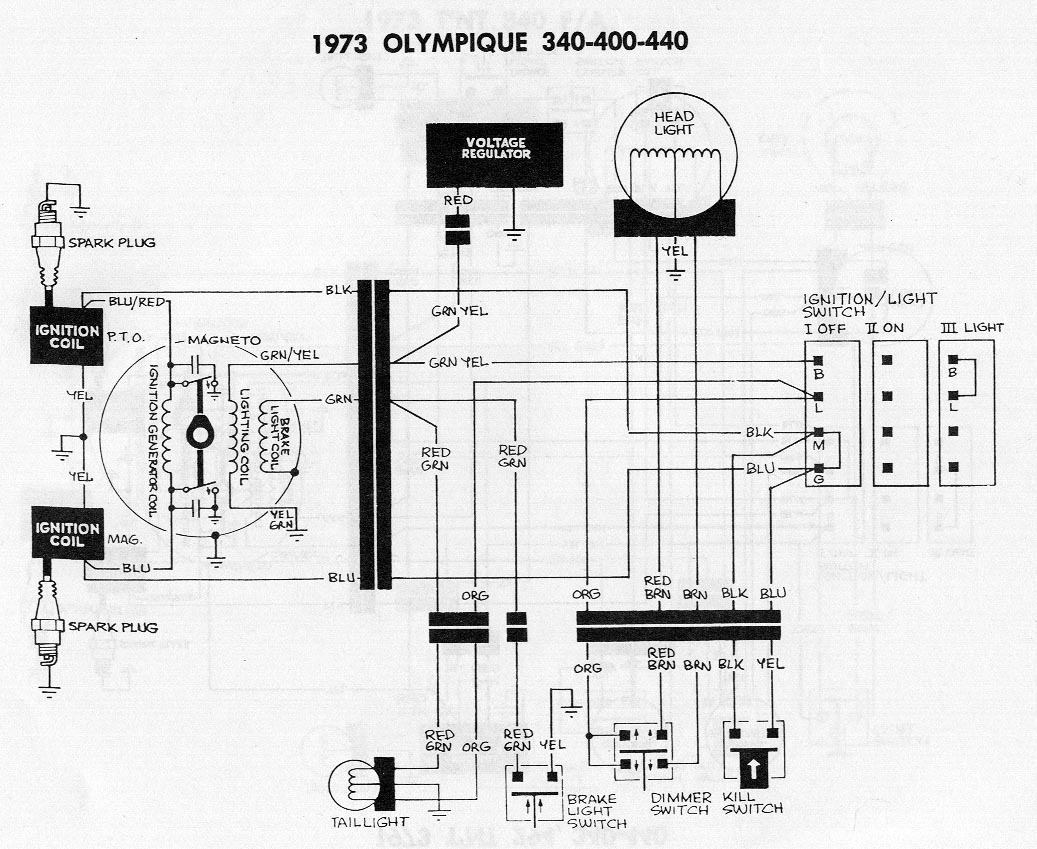Ski Doo 700 King Quad Voltage Regulator Wiring Diagram 1973 Olympique 340 400 440