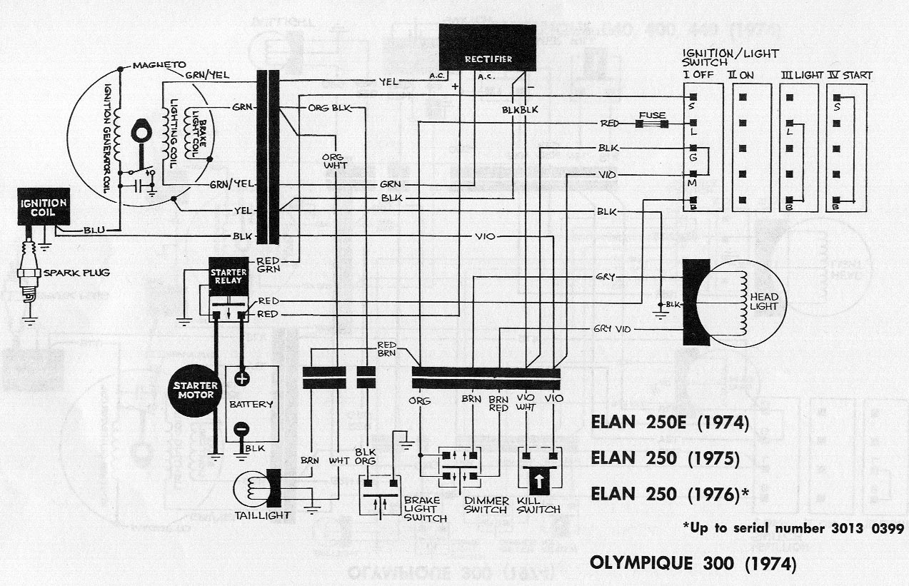 Ski Doo Wiring Harness Diagram Library Sea Ray Schematic 1975 Elan 250